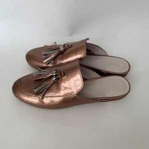 Kenneth Cole Light Brown Tassel Mules
